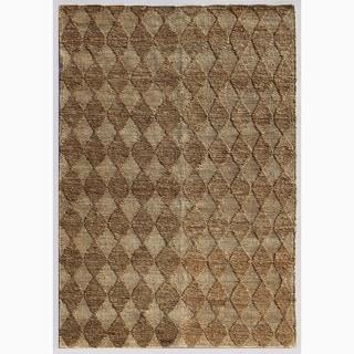 Handmade Taupe/ Ivory Hemp Eco-friendly Rug (4 x 6)