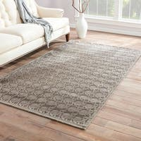 Carson Carrington Sande Trellis Grey/ Silver Area Rug - 5' x 7'6