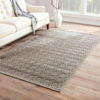 Maison Rouge Margaret Trellis Grey/ Silver Area Rug (5' x 7'6) - 5' x 7'6