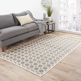 Helios Trellis White/ Gray Area Rug (9' X 12')|https://ak1.ostkcdn.com/images/products/8577131/P15850967.jpg?impolicy=medium