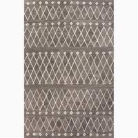 Atlas Handmade Geometric Gray/ White Area Rug (9' X 12') - 9 x 12