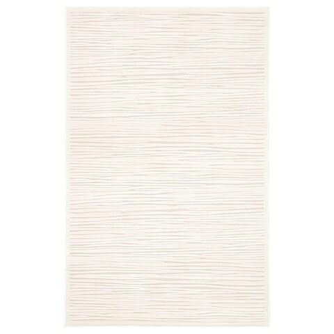 "Raya Abstract White Area Rug (5' X 7'6"") - 5' x 7'6"