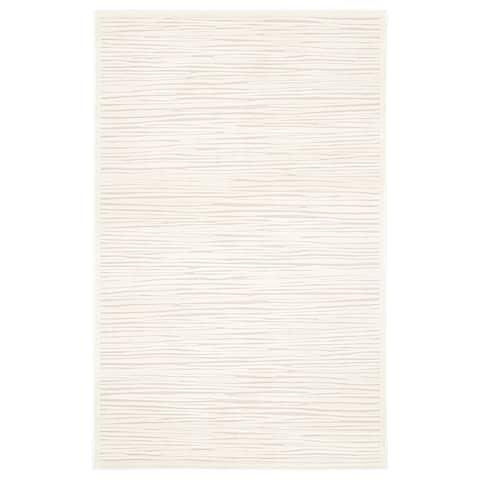 "Raya Abstract White Area Rug (5' X 7'6"") - 5' x 7'6"""
