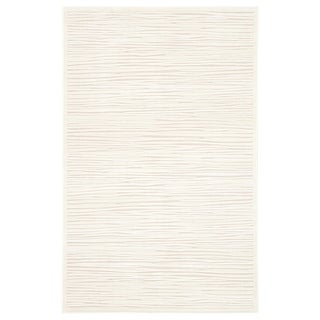 "Raya Abstract White Area Rug (5' X 7'6"")"