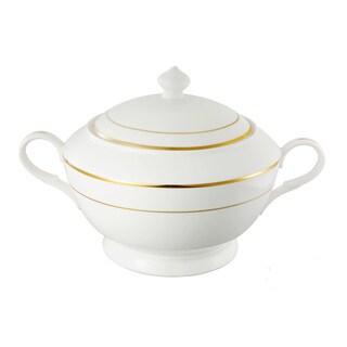 Lorren Home Trends La Luna 24k Gold Tone Bone China Soup Tureen