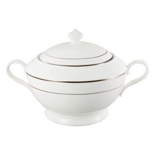 Lorren Home Trends La Luna Platinum Tone Bone China Soup Tureen