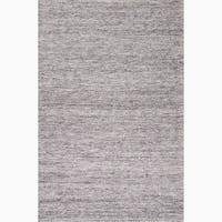 Daven Handmade Solid Gray/ Silver Area Rug (5' X 8') - 5' x 8'