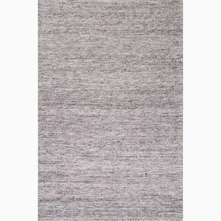 Daven Handmade Solid Gray/ Silver Area Rug (8' X 10')