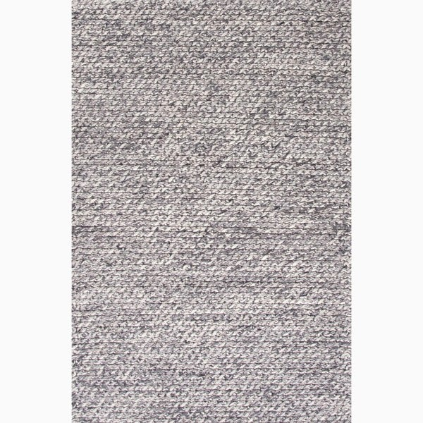 Shop Hand Made Gray Ivory Wool Textured Rug 8x10 Free