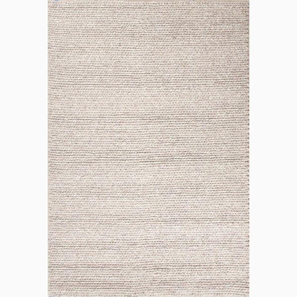 Kallan Handmade Solid Gray Area Rug (8' X 10') - 8' x 10'