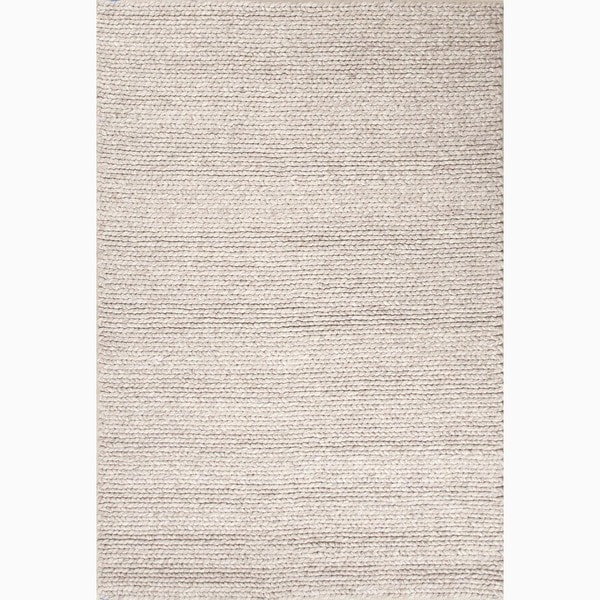 Hand Made Gray Wool Textured Rug 8x10 15851141