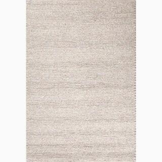 Kallan Handmade Solid Gray Area Rug (8' X 10')