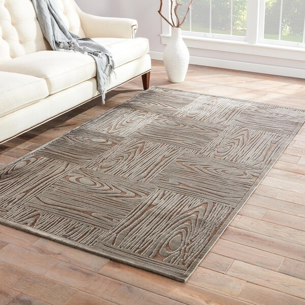Grainger Abstract Gray Area Rug (2' X 3') - 2' x 3'