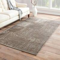 Grainger Abstract Gray Area Rug - 2' x 3'