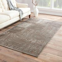 "Grainger Abstract Gray Area Rug (7'6"" X 9'6"")"