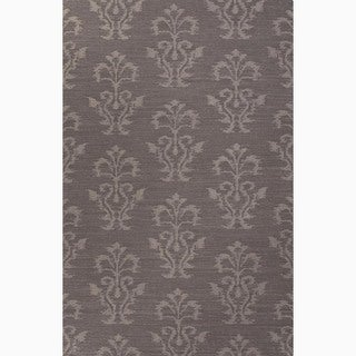Hand-Made Tribal Pattern Gray Wool Rug (8x10)