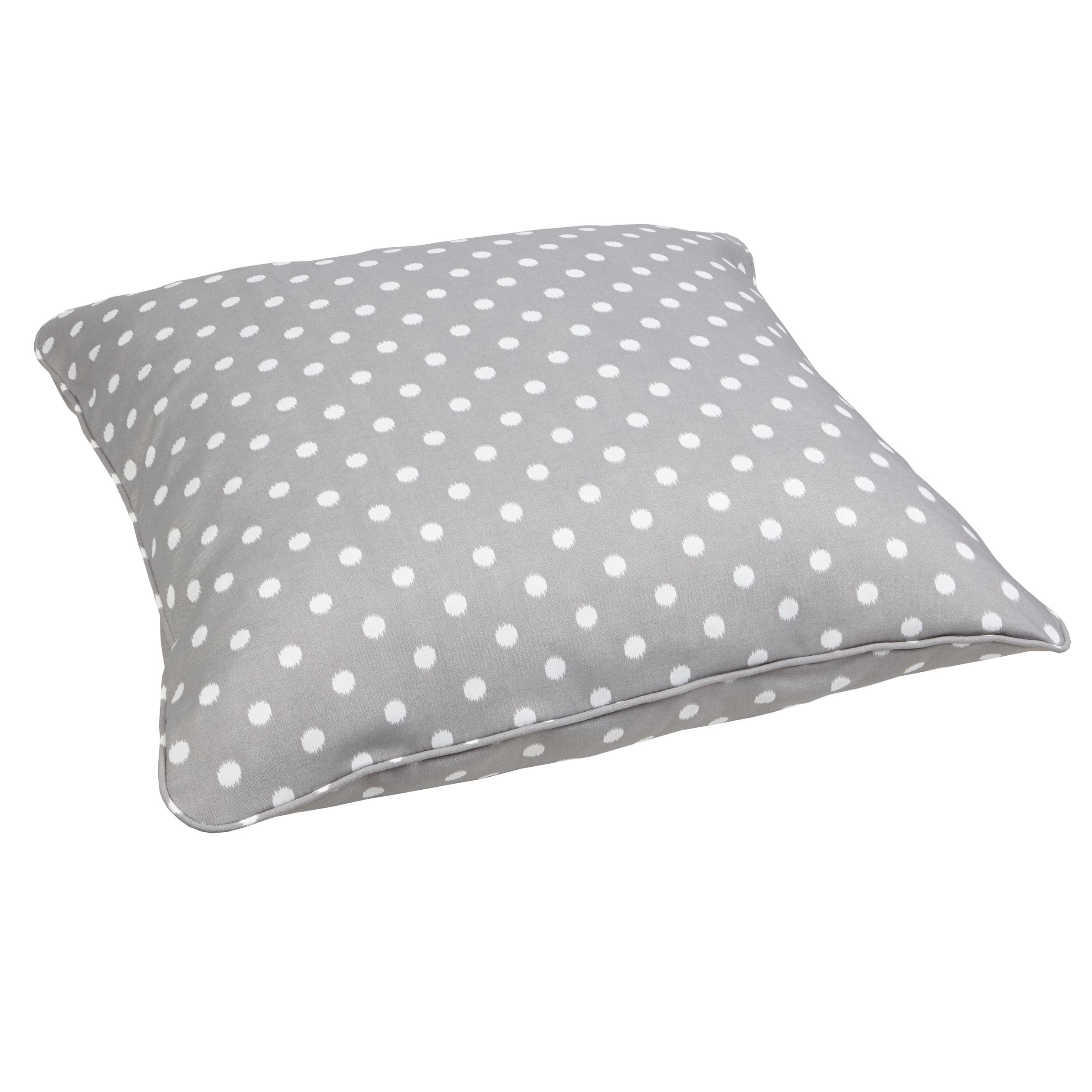 Grey Dots Corded Outdoor/ Indoor Large 26-inch Floor Pill...