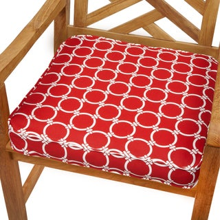 Linked Red 20-inch Indoor/ Outdoor Corded Chair Cushion