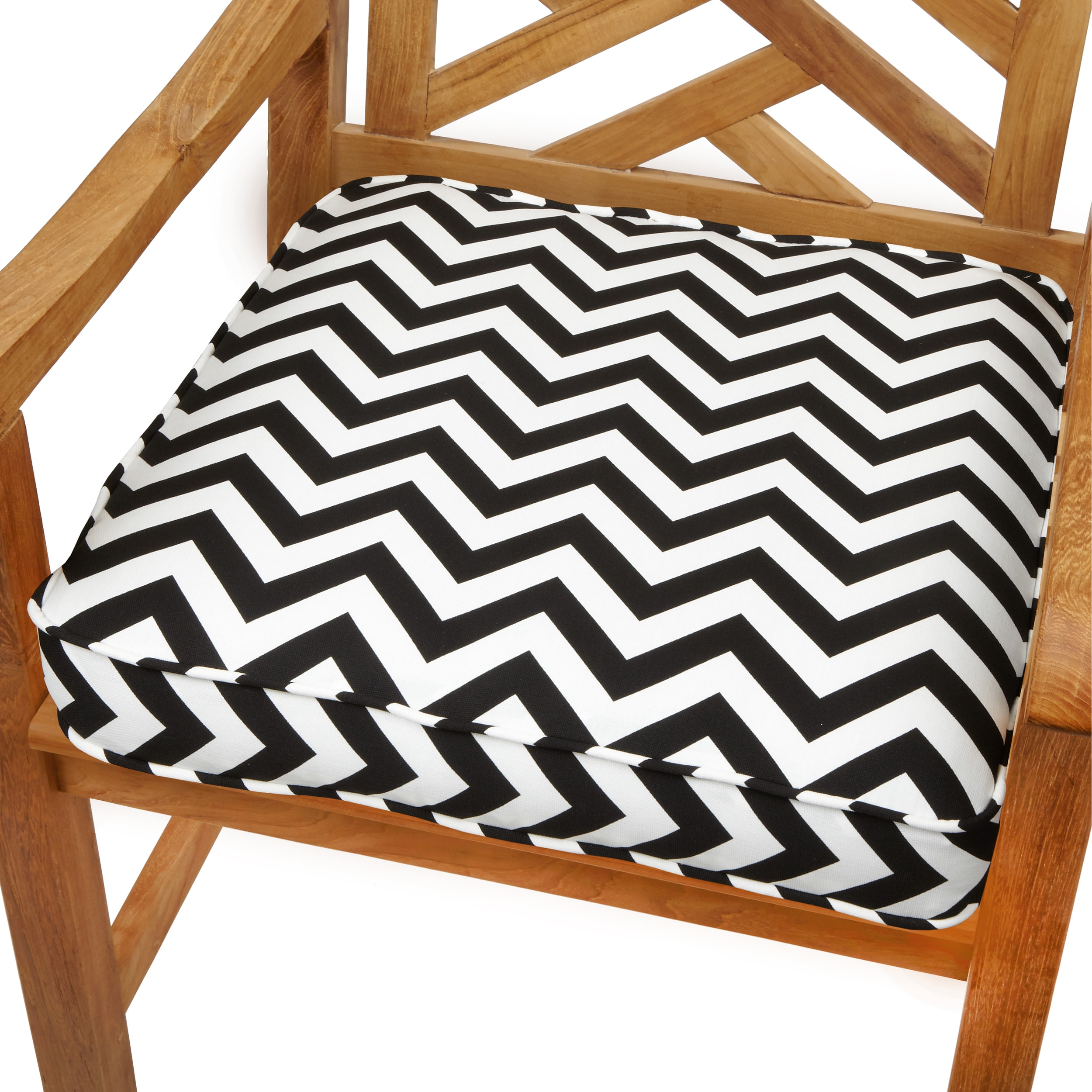 Chevron 20 Inch Indoor/ Outdoor Corded Chair Cushion
