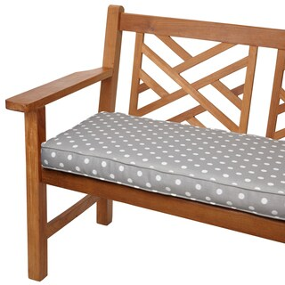 Grey Dots 48-inch Indoor/ Outdoor Corded Bench Cushion