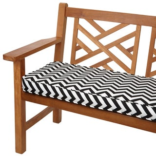 Black Chevron 48-inch Indoor/ Outdoor Corded Bench Cushion