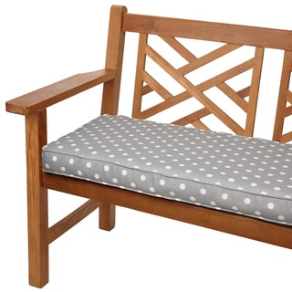 Grey Dots 60-inch Indoor/ Outdoor Corded Bench Cushion