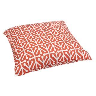 Dossett Orange Corded Outdoor/ Indoor Large 26-inch Floor Pillow