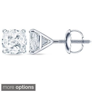 Auriya 2ct TDW Cushion Cut Diamond Earrings (H-I, SI1-SI2)