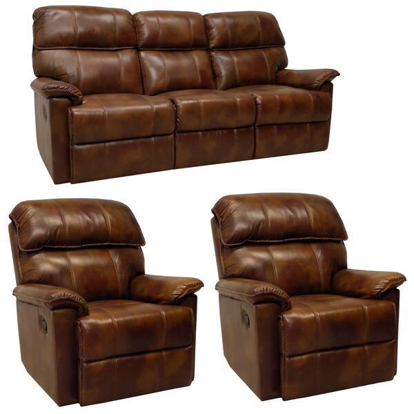 Fabulous Shop Palma Caramel Brown Italian Leather Reclining Sofa And Beatyapartments Chair Design Images Beatyapartmentscom