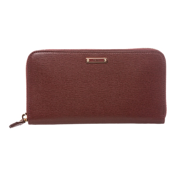 a0268524b9 Shop Fendi Crayons Red Leather Zip-Around Wallet - Free Shipping ...