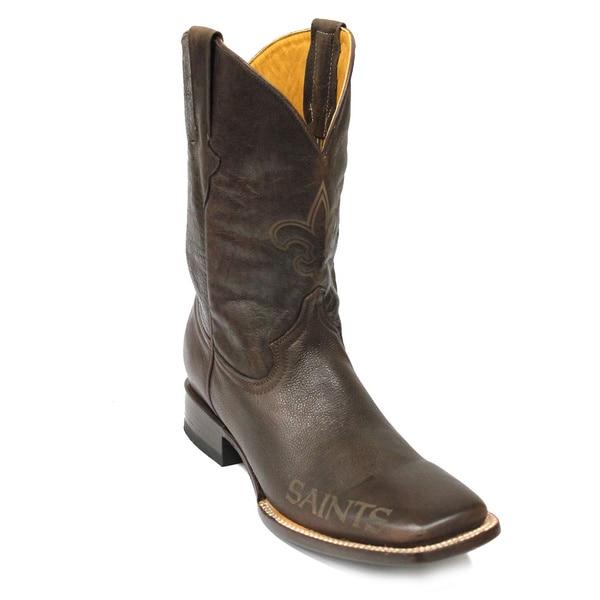 ea3ef1f9 Shop New Orleans Saints Square Toe Classic Leather Boots - Free ...