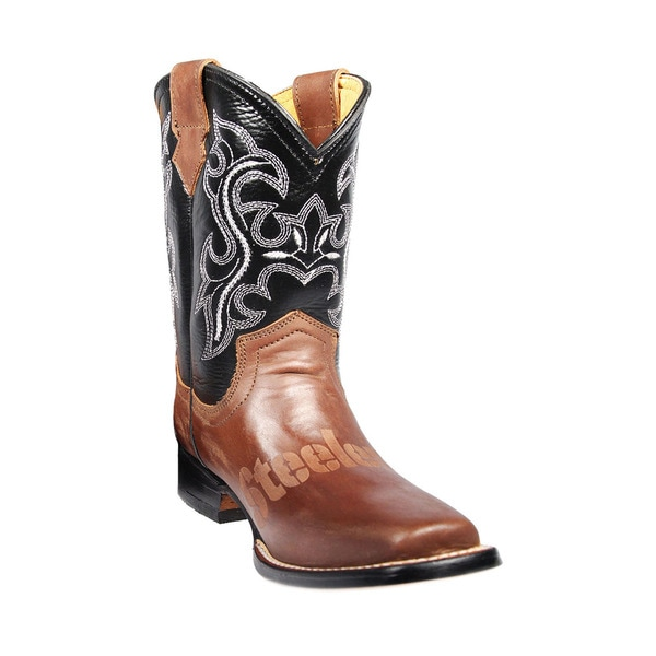 4cc9db2ee37f Shop Pittsburgh Steelers Junior Western Boots - Free Shipping Today ...