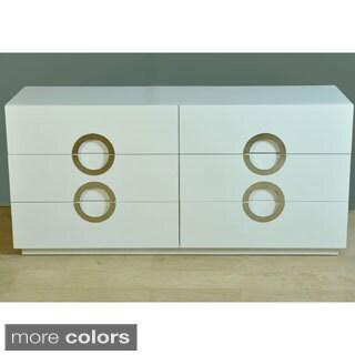 Moden High-gloss Double Dresser