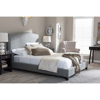 Aisling Gray Fabric Platform Bed