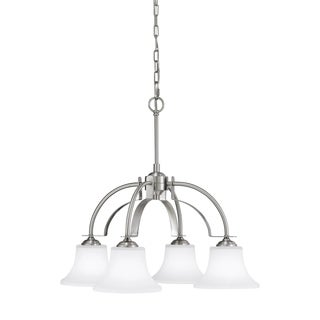Barrington 4-light Brushed Steel Chandelier