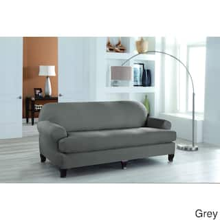 Grey Sofa Amp Couch Slipcovers For Less Overstock Com