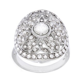 Simon Frank 69-piece Crystal Open Work Floral Design Ring