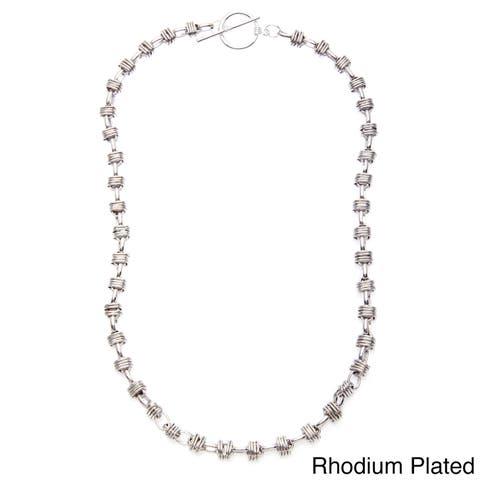 Simon Frank 24-inch Cross Link Heavy Aztec Chain Necklace