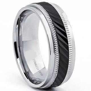 Stainless Steel Men\'s Wedding Bands & Groom Wedding Rings For Less ...