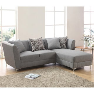 ricordi modern stainless steel fabric sectional