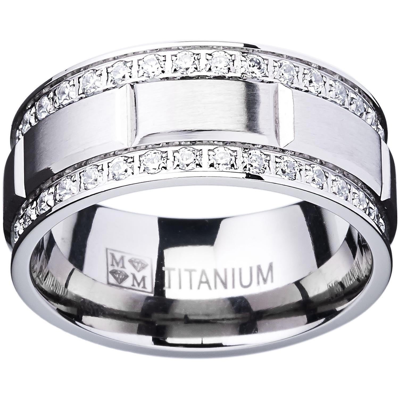 Titanium Grooved 9mm Mens Wedding Ring Band Sz 12