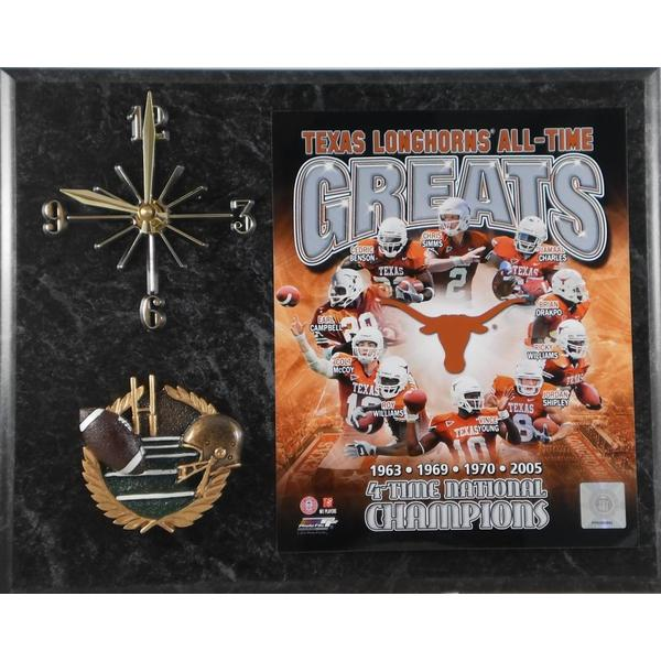 Texas Longhorns All Time Greats Clock