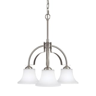 Barrington 3-light Brushed Steel Chandelier