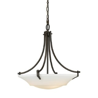 Barrington 3-light Oil Rubbed Bronze/ White Opal Glass Pendant