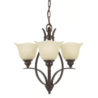 Morningside 3-light Grecian-bronze Indoor Chandelier