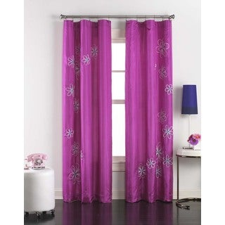 Jillian Taffeta Embroidered Curtain Panel Pair