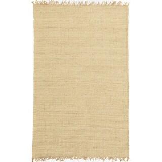 Handwoven Bleached Jute Rug (6' x 9')