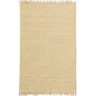 Handwoven Bleached Jute Rug (9' x 13')