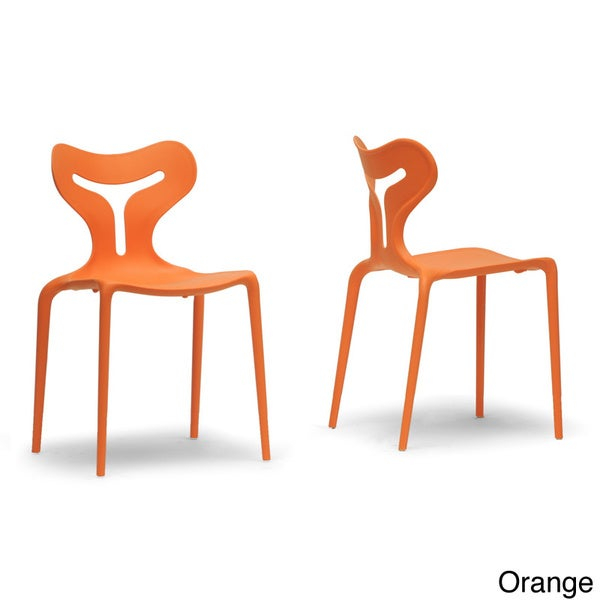 Yari Stackable Modern Dining Chair (Set of 2)