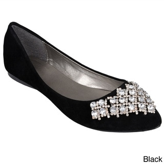 Journee Collection Women's 'Athens' Rhinestone Accent Ballet Flats
